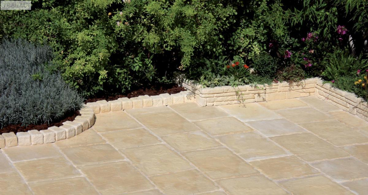 Dallage terrasse piscine en pierre reconstitu e provence - Dalle terrasse pierre reconstituee ...